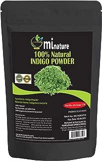mi nature Indigo Powder -INDIGOFERA TINCTORIA,(100% NATURAL, ORGANICALLY GROWN) 1 LB (454 grams/16 ounces) RESEALABLE BAG