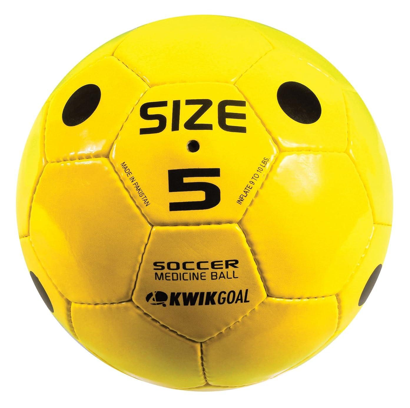 アンティークドット辞任Kwik GoalサッカーMedicine Ball ,イエロー