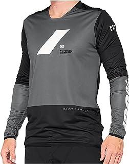 100% R-Core X shirt heren grijs 2021 fietsshirt lange mouwen