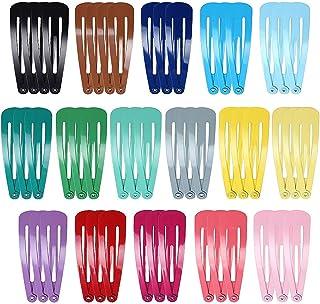 50 piezas de broches coloridas para el cabello a presión de metal, pasadores con forma hermosa de gota y colores de carame...