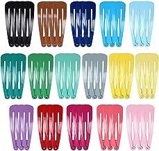 50 piezas de broches coloridas para el cabello a presión de metal, pasadores con forma hermosa de gota y colores de caramelo, horquillas para el cabello para chicas y mujeres
