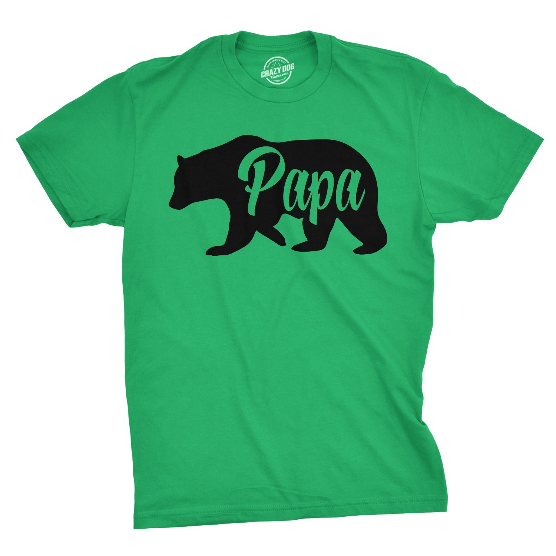 Mens Papa Bear Funny Shirts for Dads Gift Idea Humor Novelty Tees Family T shirt