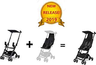 gb Pockit Go Lightweight Stroller Bundle, Satin Black (Includes Infant Carrier and seat Inlay)