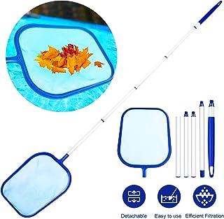 Familybox Red de Piscina, Skimmer Recoge Hojas Recogehojas para Pisina con Barra telescópica de Aluminio Desmontable 1.2m Juego de Limpieza para Elimina Todos Los Escombros