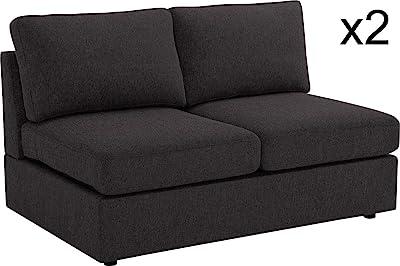 Marvelous Amazon Com Rivet Revolve Modern Upholstered Sofa With Pdpeps Interior Chair Design Pdpepsorg