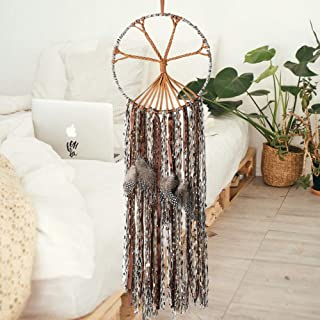The Tree of Life Dream Catcher Handmade Traditional Feather Large Boho Chic Dream Catchers Kids Bedroom Living Room Wall Hanging Bohemian Ornament Craft Home Decor Dia 10