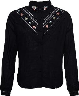 Superdry Sandy Emb Shirt Blusa para Mujer