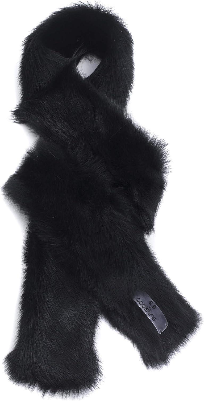 Coolskins Bufanda Invierno Cuello Suave y Caliente Cordero con Pelo Largo y Cuero 100/% Piel y Confecci/ón Espa/ñola Unisex Adulto