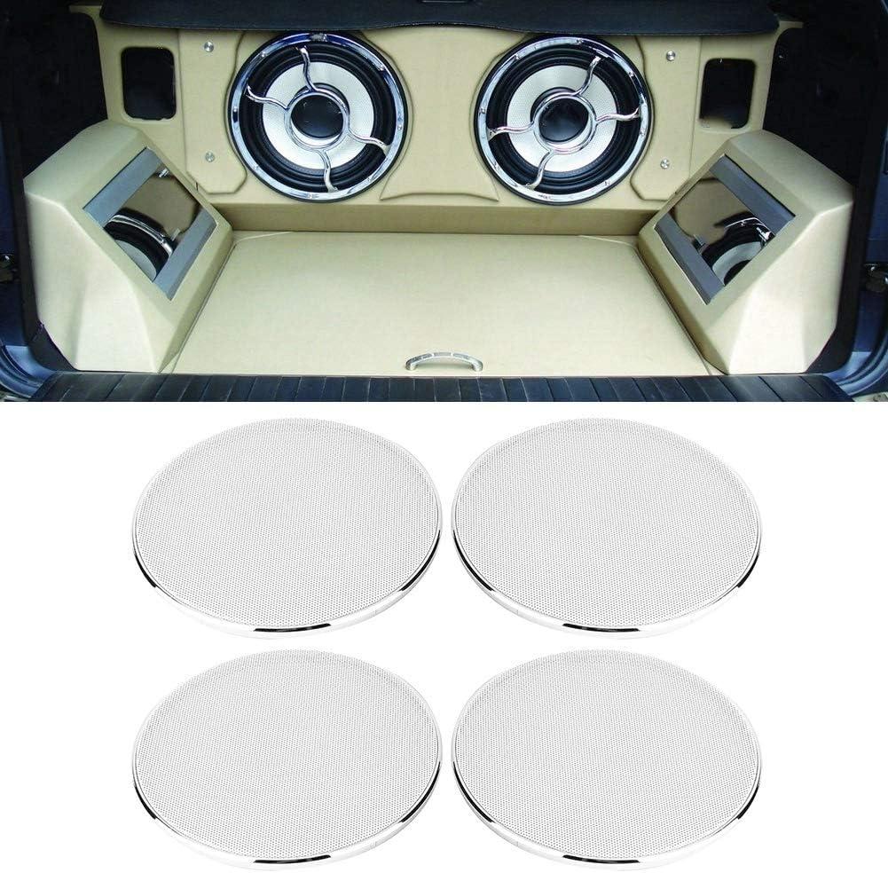 Grille de haut-parleur 6,5 pouces voiture Audio haut-parleur Grille maille couverture bo/îtier cercle garde haut-parleur filet de protection 4PCS