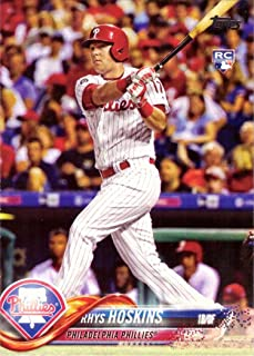 2018 Topps Baseball #259 Rhys Hoskins Rookie Card - His 1st Official Rookie Card
