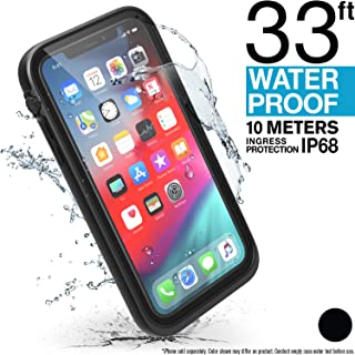 Catalyst iPhone XR Waterproof Case with Lanyard, Shock Proof Drop Proof Military Material Quality for Hiking, Swimming, Adventure, Beach Trips, Kayaking, Cruise Ship Accessories- Stealth Black