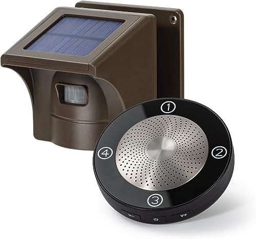 1/2 Mile Long Range Solar Wireless Driveway Alarm Outdoor Weather Resistant Motion Sensor & Detector- Security Alert ...