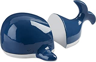 Baby Aspen Ceramic Whale Bookends | Cute Ocean Themed Kids Bedroom Décor