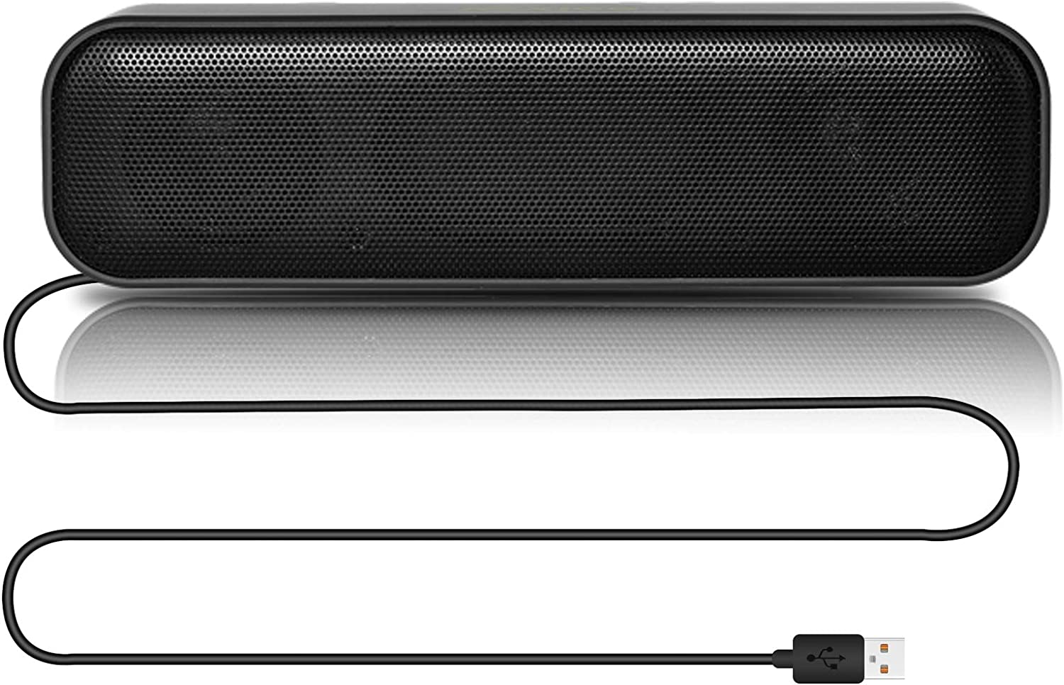 NexiGo USB Computer Speaker, USB Audio Decoder Speaker with Stereo Sound and Enhanced Bass, Portable Mini Speakers for Computer Laptop Tablet Game Console, Black