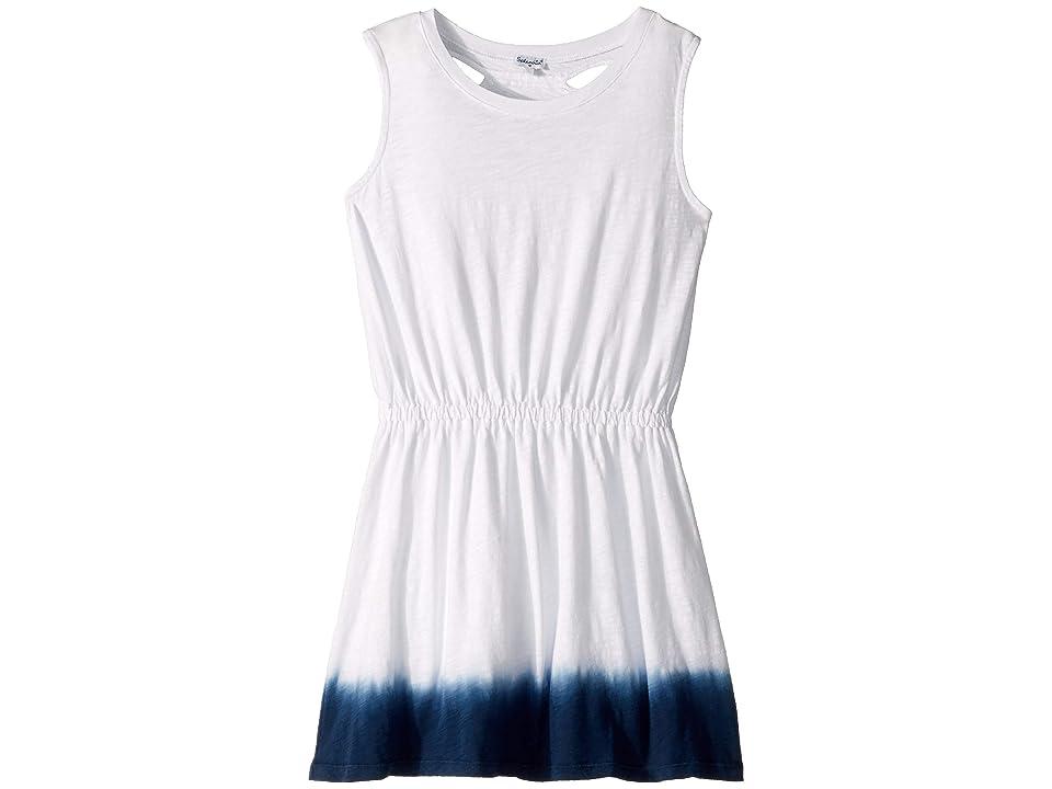 Splendid Littles Dip-Dye Dress (Big Kids) (Optic White/Dip-Dye) Girl
