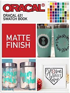 Custom Oracal 631 Swatch Book with Samples of Each Color, Names, and Part Numbers