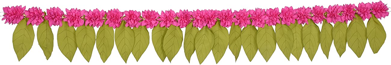 Daedal crafters- Green Leaf toran (Pink with Green) DC212