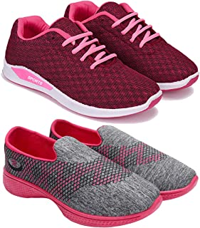 ARMADO Combo Pack of 2 Sports and Running Shoes for Women