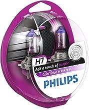 Philips ColorVision Bombilla para faros delanteros morada 12972CVPPS2 - bombilla para coches (55W, H4/H7, Fog light, High beam, Luz interior, Low beam, Parking light, Signaling, Stop light)