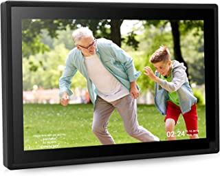 Dhwazz 10 Inch 16GB WiFi Digital Photo Frame, IPS Motion Sensor Electronic Picture Frame with LCD Touch Screen, Wall-Mountable, Share Photos or Video Instantly via Mobile APP/Facebook/Twitter/Email
