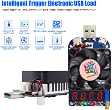 USB Load Tester Electronic Load Tester Resistor Module Trigger QC2.0 QC3.0 25W 0.25-4A HD25 USB Interface Discharge Adjustable Constant Current Intelligent Temperature Control with Cooling Fan