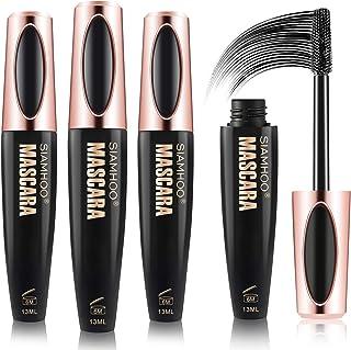 3 PACKS Natural 4D Silk Fiber Lash Mascara Extension Makeup Voluminous Eyelashes Mascara,Smudge-proof,Hypoallergenic Formu...