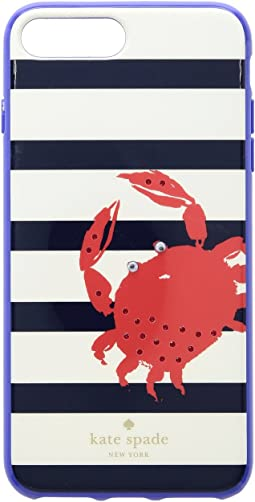 Kate Spade New York - Jeweled Stripe Crab Phone Case for iPhone® 8 Plus