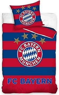 FC Bayern Munich Bed Linen Single Duvet Cover Set Football 160x200 – Red 02 Blue
