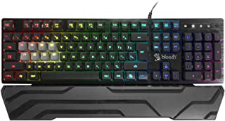 BLOODY B380 8-Key Light Strike Optical RGB Gaming Keyboard with Wristrest