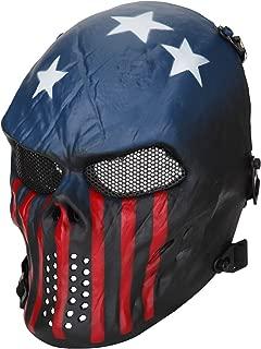 BeyongGear Airsoft Mask,BB Tactical Cs War Game Outdoor Cosplay Halloween Skull Skeleton Full Face Anti Fog Eye Kids with Metal Mesh Protection