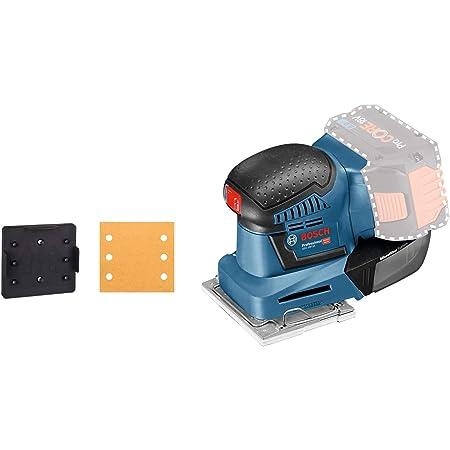 sin bater/ía ni cargador + Juego de hojas de lija de 10 piezas para lijadora m/últiple Bosch PSM 18 LI Multilijadora a bater/ía