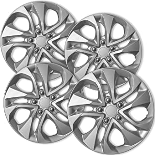 OxGord Hub-caps for 14-15 Honda Civic (Pack of 4) Wheel Covers 16 inch Snap On Silver
