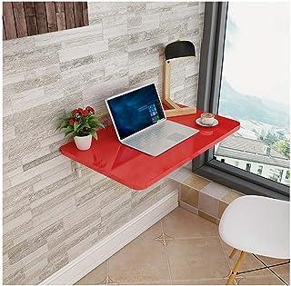 Table de salle à manger pliante, bureau en bois fixé au mur, construction solide et stable, facile à installer, bureaux mu...