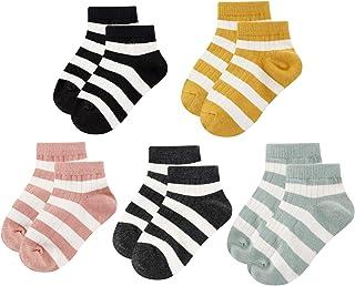 Gwenvenni Big Little Girls Boys Cotton Ankle Socks Toddler Kids Children Low Cut Crew Socks