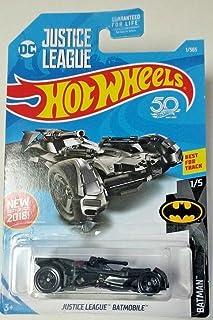 Hot Wheels 2018 50th Anniversary Batman Series DC Justice League Batmobile 1/365, Black