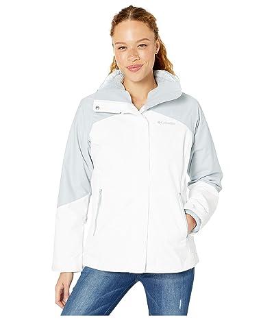 Columbia Bugabootm II Fleece Interchange Jacket (White/Cirrus Grey/Fathom Blue/Cirrus Grey) Women
