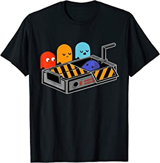 Man Pac Busted The Ghost - Funny T-Shirt