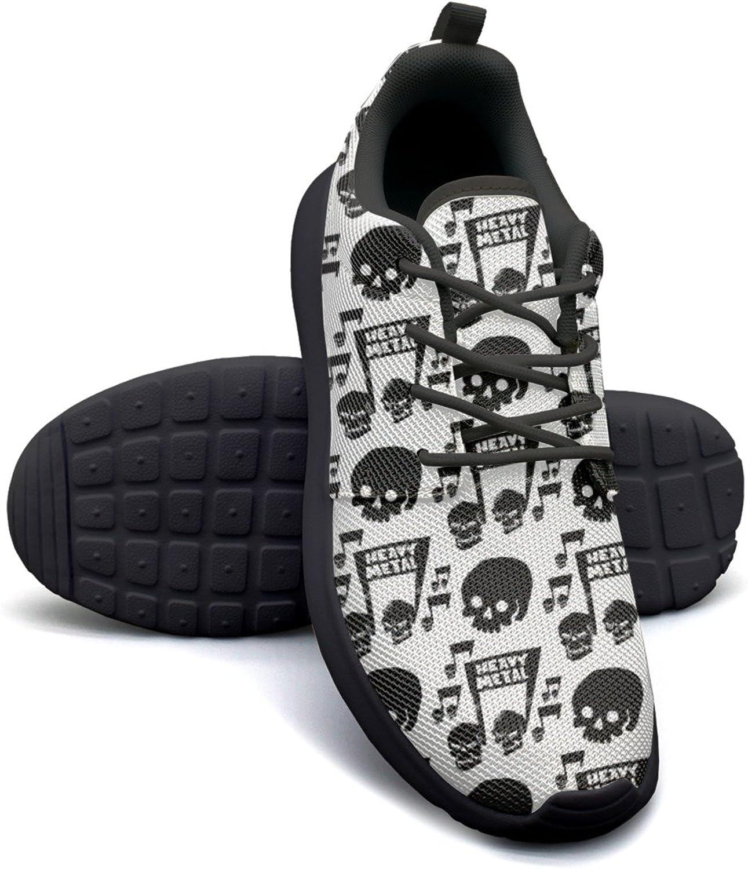 ERSER Heavy Rock Music Badge Skull Womens Brooks Running shoes Size