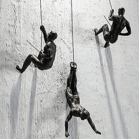 Haute Collage 3X Bronce Escalada Rapel Hombres Trío Adornos ...