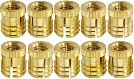 kd 100-pack 1//4-20x12mm Steel Connector Nut-Bronze Fasteners Knock Down Platte River 812620