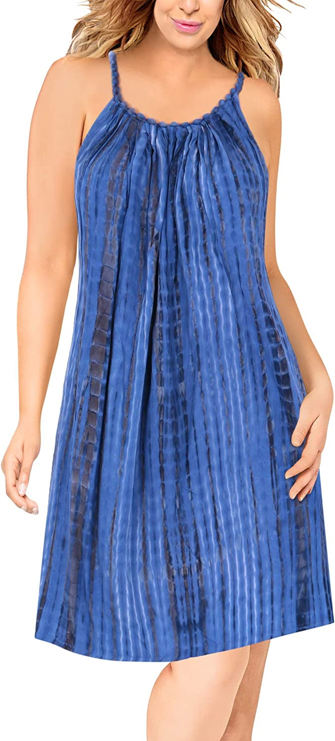 La Leela Everyday Essentials Caftan Tunic Tank Summer Beach Dress Swim Cover Up W