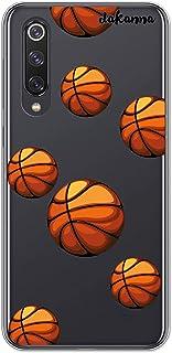 dakanna Funda Compatible con [Xiaomi Mi 9 SE] de Silicona Flexible, Dibujo Diseño [Patrón Balón de Baloncesto], Color [Fondo Transparente] Carcasa Case Cover de Gel TPU para Smartphone
