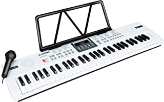 $51 » LAGRIMA LAG-720 61 Key Portable Electric Keyboard Piano with Built In Speakers, LED Screen, Microphone, Dual Power Supply,...