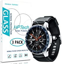 HPTech Galaxy Watch 46mm Screen Protector - (3-Pack) Tempered Glass Film for Samsung Galaxy Watch 46mm / Gear S3 Classic/Gear S3 Frontier Easy to Install with Lifetime Replacement Warranty