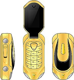 F18 Mini Flip Teléfono celular Desbloqueo GSM Teléfono 2 en 1 Marcador Bluetooth Cambiador de voz 2G Teléfono móvil estudi...