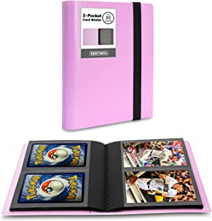 Sentinol Compact Photocard Holder Book- Hold 80 Cards in Thick Sleeves, Mini Trading Card Binder 2 Pocket Photo Album for ...