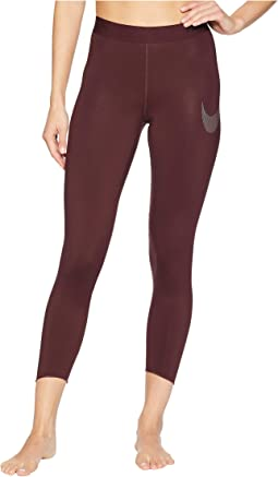 Pro Metallic Graphic 7/8 Crop Tights