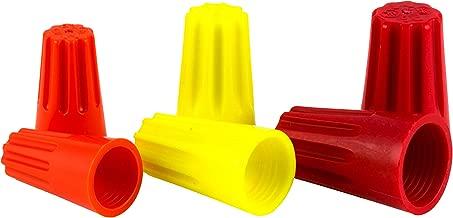 GE 18148 Twist-On Wire Connectors, Red/Yellow/Orange