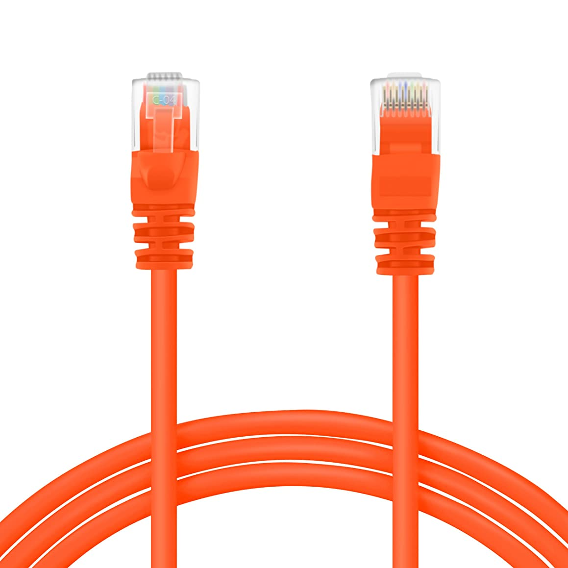 GearIT 500 Feet Cat 6 Ethernet Cable Cat6 Snagless Patch - Computer LAN Network Cord, Orange