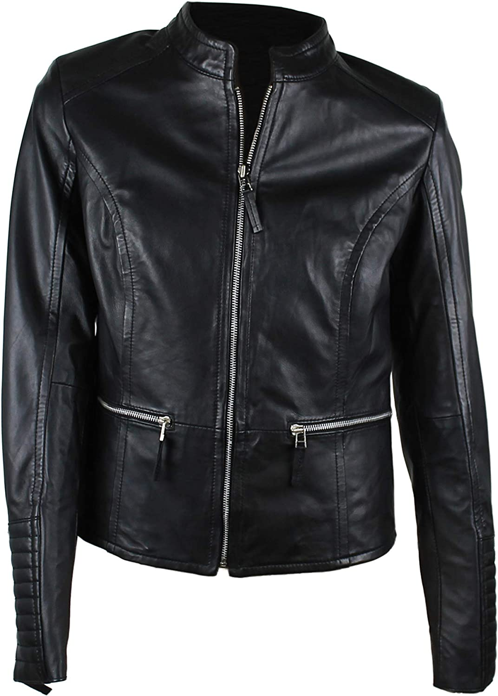 Zerimar Women's Leather Jacket   Women's Jacket   Leather Jacket   Jacket for Women   Jacekt Elegant Woman   Women Casual Leather Jacket